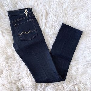 7 For All Mankind Blue Straight Gold Digger Jeans